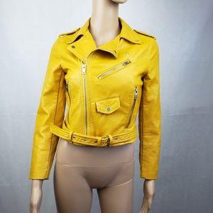 Zara Basic Mustard Yellow Jacket Size XS